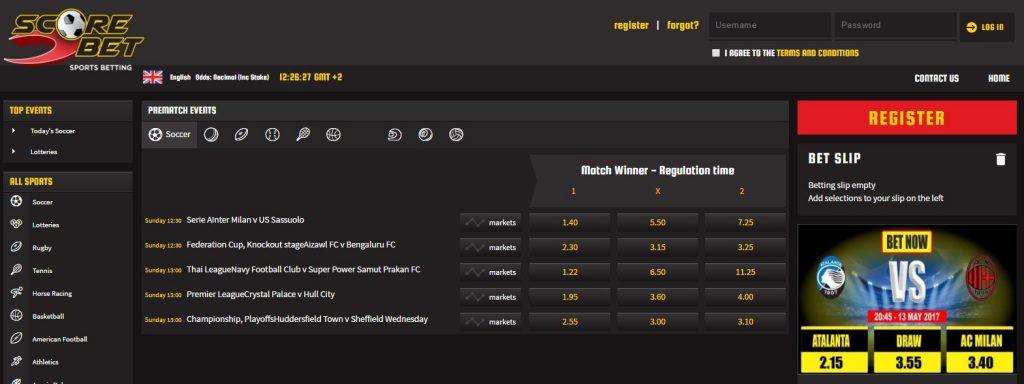 Scorebet review - Best Sports Betting