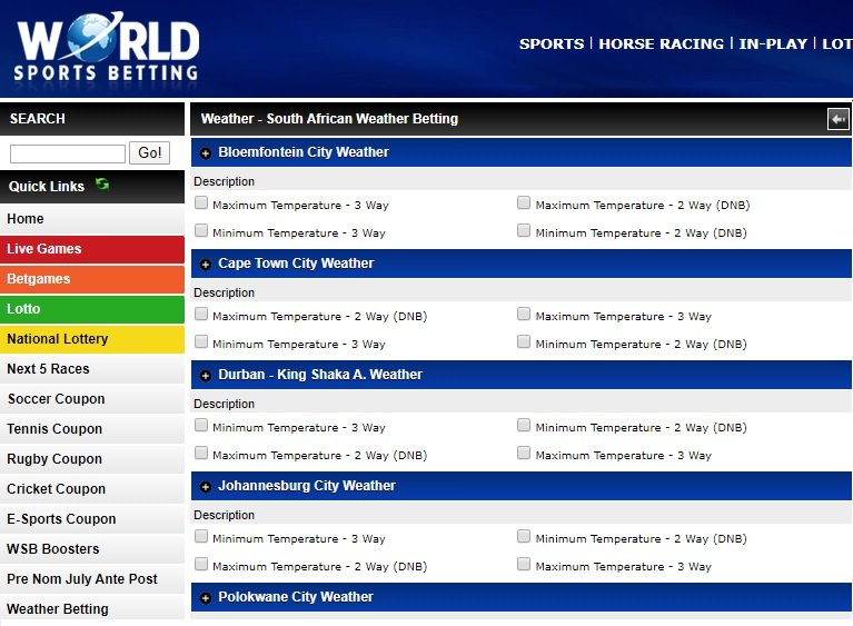 Betting world polokwane south online betting websites review